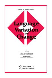 Language Variation and Change Volume 20 - Issue 3 -