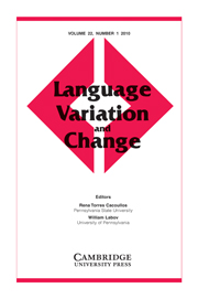 Language Variation and Change Volume 22 - Issue 1 -