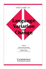 Language Variation and Change Volume 23 - Issue 1 -