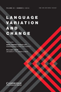 Language Variation and Change Volume 26 - Issue 2 -