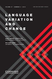 Language Variation and Change Volume 27 - Issue 2 -