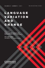 Language Variation and Change Volume 29 - Issue 3 -