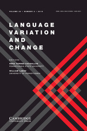 Language Variation and Change Volume 30 - Issue 2 -