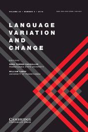 Language Variation and Change Volume 30 - Issue 3 -