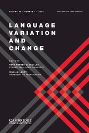Language Variation and Change Volume 32 - Issue 1 -