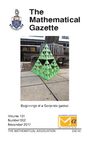 The Mathematical Gazette Volume 101 - Issue 552 -