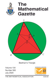 The Mathematical Gazette Volume 104 - Issue 560 -