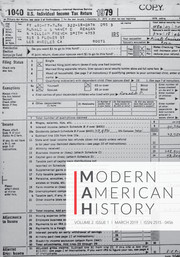 Modern American History Volume 2 - Issue 1 -