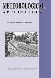 Meteorological Applications Volume 10 - Issue 2 -