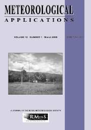 Meteorological Applications Volume 13 - Issue 1 -