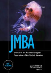 Journal of the Marine Biological Association of the United Kingdom Volume 100 - Issue 5 -