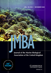 Journal of the Marine Biological Association of the United Kingdom Volume 100 - Issue 8 -