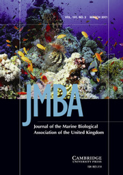 Journal of the Marine Biological Association of the United Kingdom Volume 101 - Issue 2 -