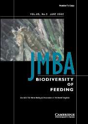 Journal of the Marine Biological Association of the United Kingdom Volume 83 - Issue 3 -