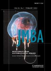 Journal of the Marine Biological Association of the United Kingdom Volume 84 - Issue 1 -