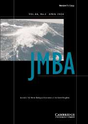 Journal of the Marine Biological Association of the United Kingdom Volume 84 - Issue 2 -