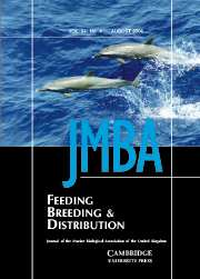 Journal of the Marine Biological Association of the United Kingdom Volume 84 - Issue 4 -