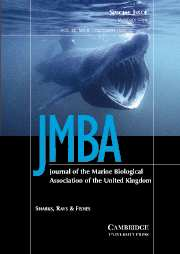 Journal of the Marine Biological Association of the United Kingdom Volume 85 - Issue 5 -