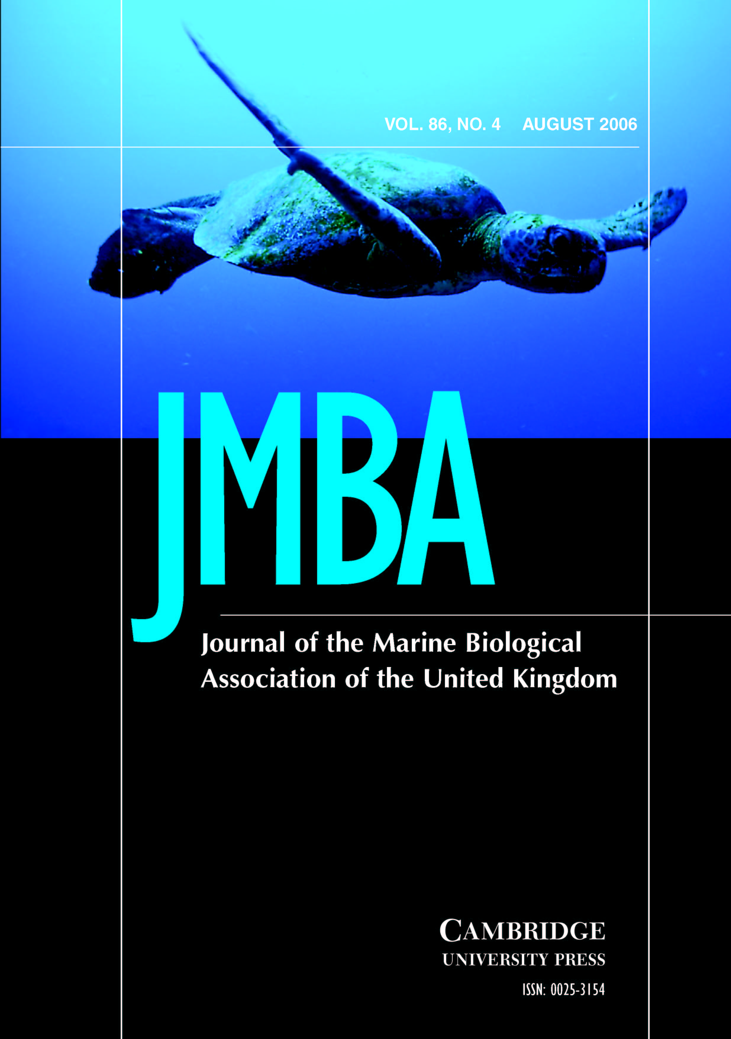 Journal of the Marine Biological Association of the United Kingdom Volume 86 - Issue 4 -