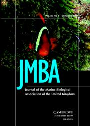 Journal of the Marine Biological Association of the United Kingdom Volume 86 - Issue 5 -