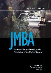 Journal of the Marine Biological Association of the United Kingdom Volume 87 - Issue 4 -