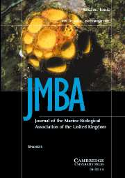 Journal of the Marine Biological Association of the United Kingdom Volume 87 - Issue 6 -