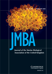 Journal of the Marine Biological Association of the United Kingdom Volume 89 - Issue 1 -