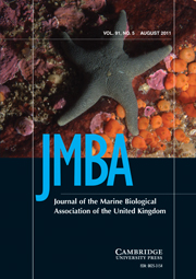 Journal of the Marine Biological Association of the United Kingdom Volume 91 - Issue 5 -