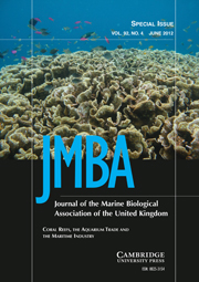 Journal of the Marine Biological Association of the United Kingdom Volume 92 - Issue 4 -  Coral Reefs, the Aquarium Trade and the Maritime Industry