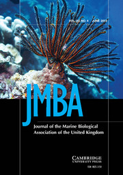 Journal of the Marine Biological Association of the United Kingdom Volume 93 - Issue 4 -