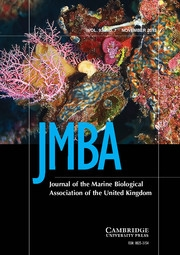 Journal of the Marine Biological Association of the United Kingdom Volume 93 - Issue 7 -