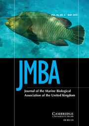 Journal of the Marine Biological Association of the United Kingdom Volume 95 - Issue 3 -