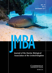 Journal of the Marine Biological Association of the United Kingdom Volume 97 - Issue 8 -