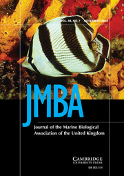 Journal of the Marine Biological Association of the United Kingdom Volume 98 - Issue 7 -