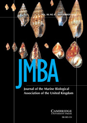 Journal of the Marine Biological Association of the United Kingdom Volume 99 - Issue 6 -