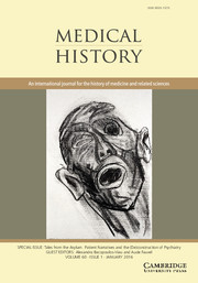Medical History Volume 60 - Issue 1 -  Tales from the Asylum. Patient Narratives and the (De)construction of Psychiatry