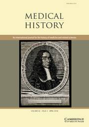 Medical History Volume 62 - Issue 2 -