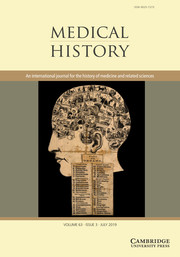 Medical History Volume 63 - Issue 3 -
