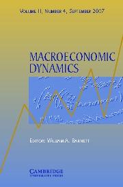 Macroeconomic Dynamics Volume 11 - Issue 4 -