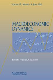 Macroeconomic Dynamics Volume 17 - Issue 4 -