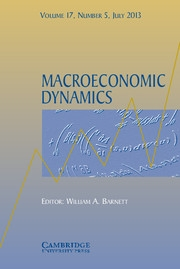Macroeconomic Dynamics Volume 17 - Issue 5 -