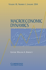 Macroeconomic Dynamics Volume 18 - Issue 1 -