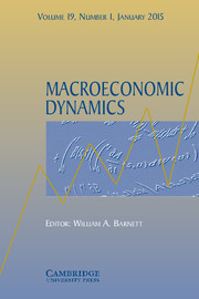 Macroeconomic Dynamics Volume 19 - Issue 1 -