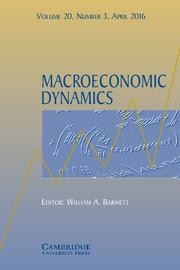 Macroeconomic Dynamics Volume 20 - Issue 3 -