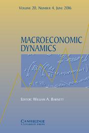 Macroeconomic Dynamics Volume 20 - Issue 4 -