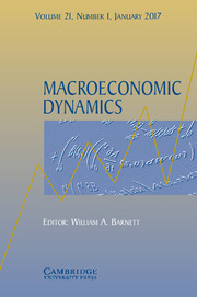 Macroeconomic Dynamics Volume 21 - Issue 1 -