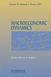 Macroeconomic Dynamics Volume 21 - Issue 2 -
