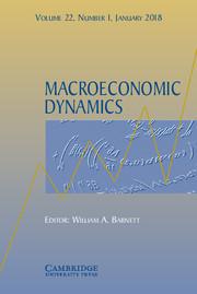 Macroeconomic Dynamics Volume 22 - Special Issue1 -  Current Macroeconomic Challenges