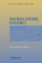 Macroeconomic Dynamics Volume 22 - Issue 4 -