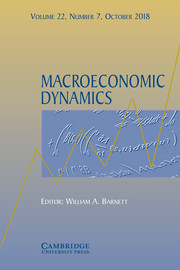 Macroeconomic Dynamics Volume 22 - Special Issue7 -  Recent Insights into Financial, Housing, and Monetary Markets